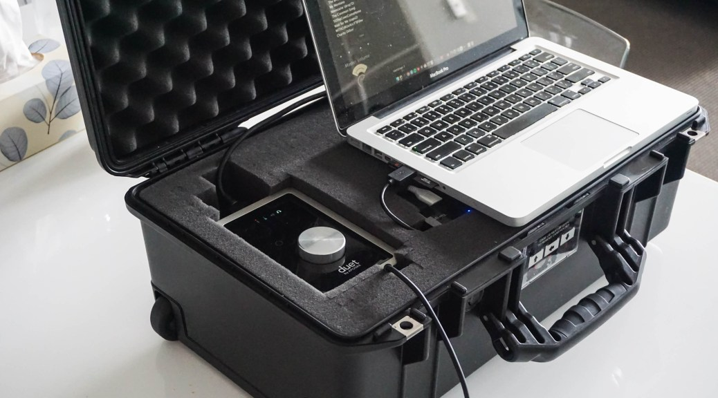 travel music studio pelican case