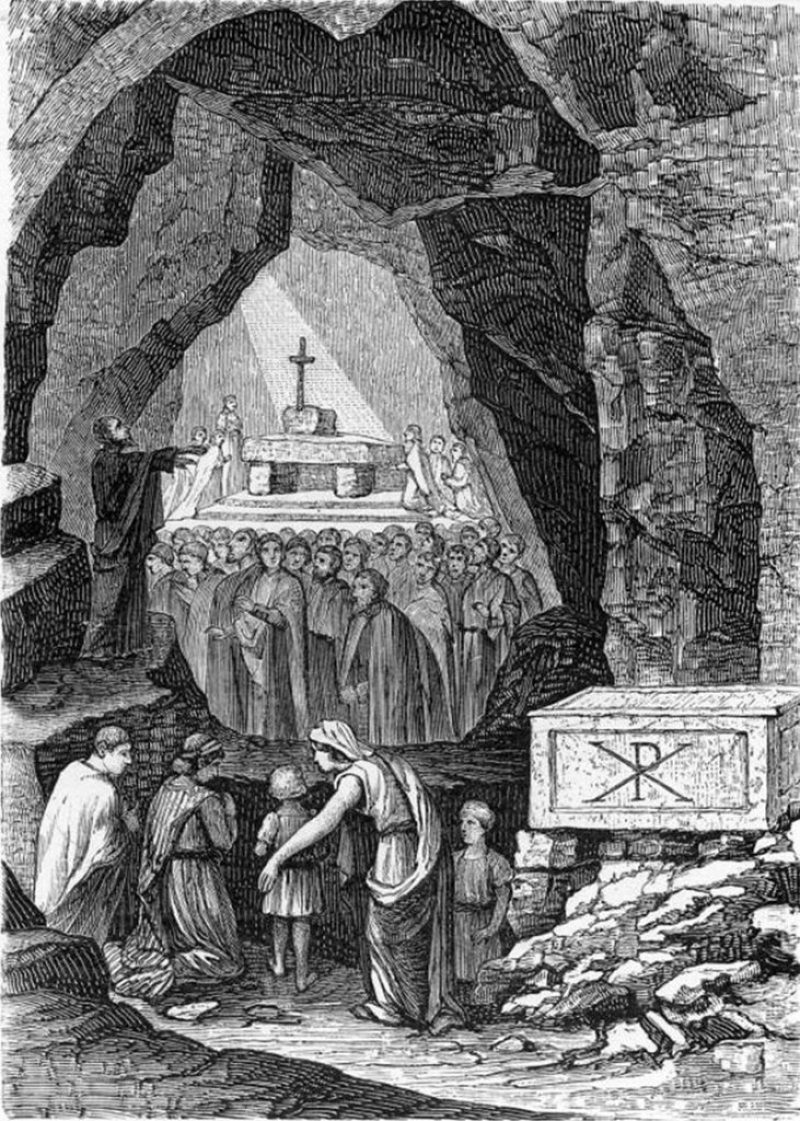 Biserica in catacombe