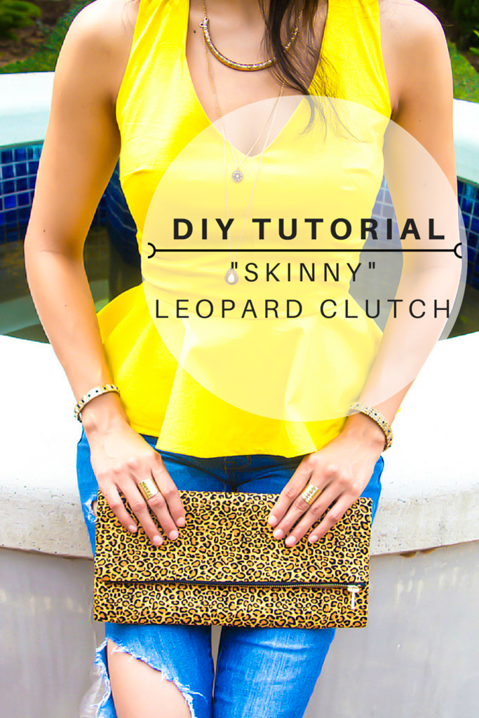 "DIY ""Skinny"" Leopard Clutch Tutorial"