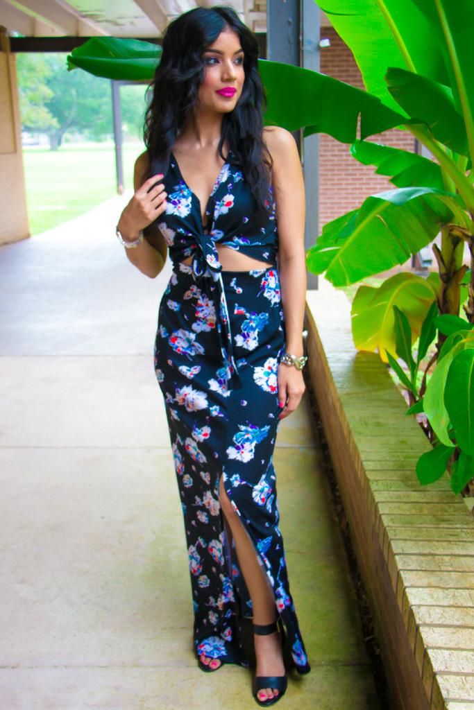 DIY Tie Front Top + Maxi Skirt - Rosy | Peña