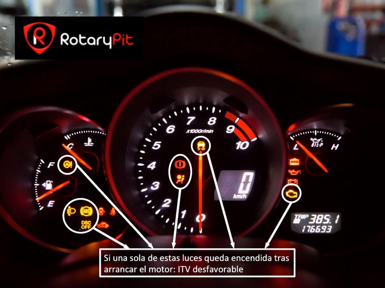 alarmas cuadro instrumentos ITV desfavorable RX8 RotaryPit