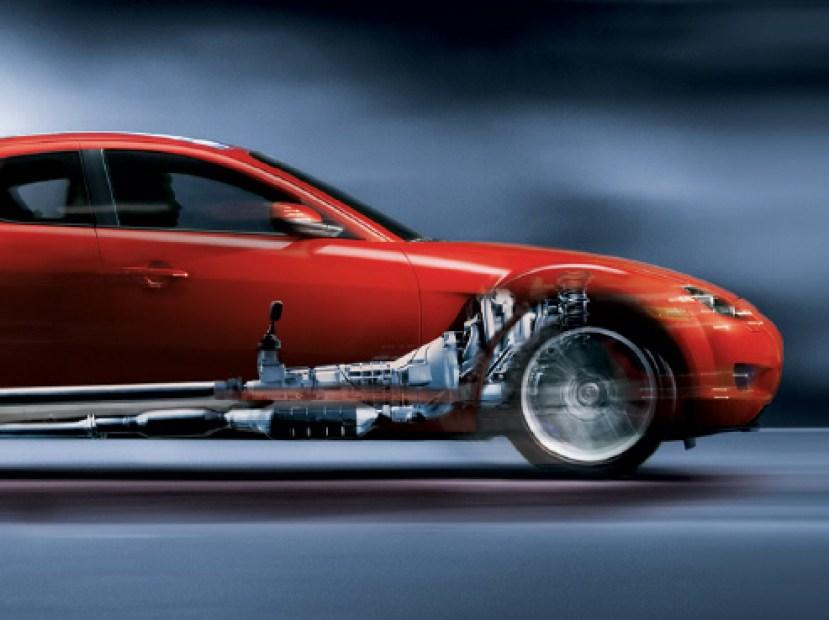 Corte Mazda RX8 transmisión RotaryPit