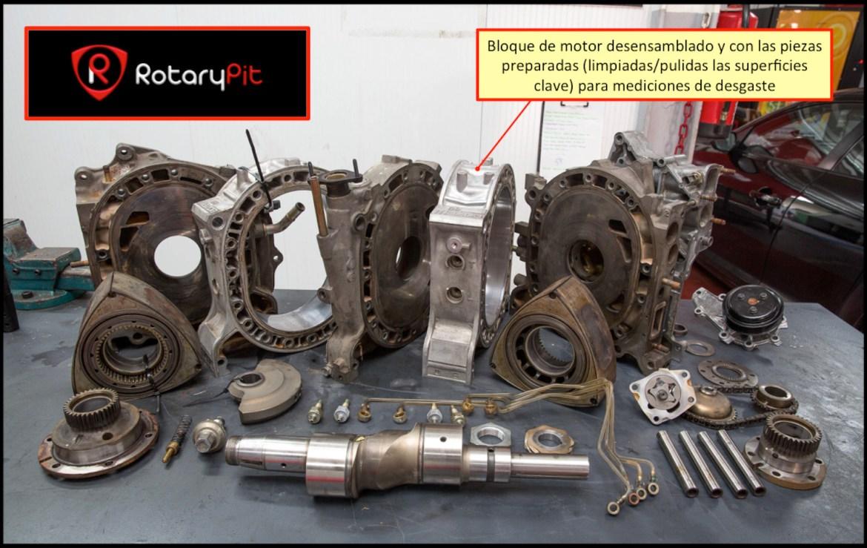 Reconstrucción rebuild motor Renesis bloque motor shortbock desensamblado RX8 RX7 jird20 RotaryPit