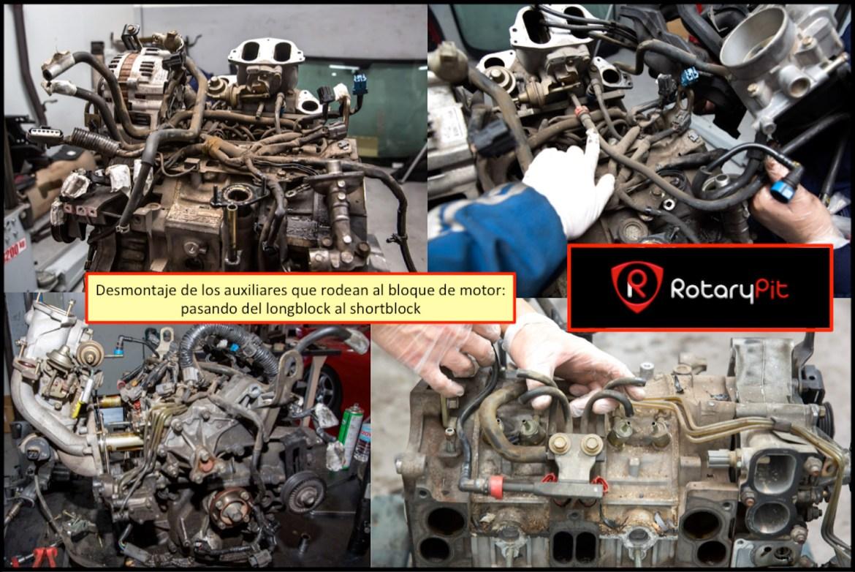 Reconstrucción rebuild motor Renesis desmontaje auxiliares motor RX8 RX7 jird20 RotaryPit