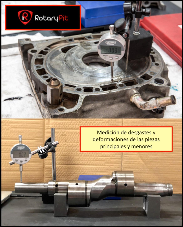 Reconstrucción rebuild motor Renesis medición piezas RX8 RX7 jird20 RotaryPit