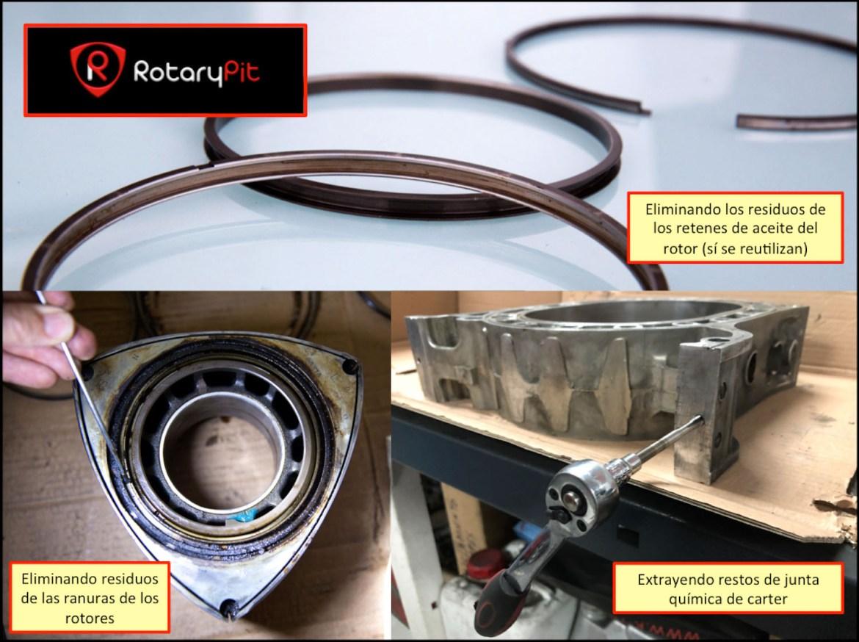 Limpieza fina y preparación piezas para reensamblaje Renesis jird20 RX8 RX7 RotaryPit