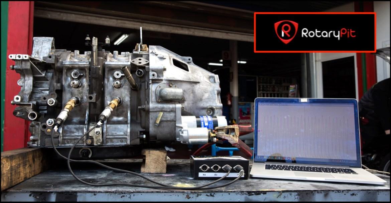 Prueba compresión motor reconstruido jird20 RX8 RX7 RotaryPit
