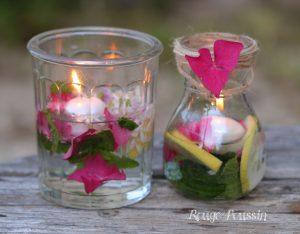 Bougies flottantes : de l'utile à l'agréable ... !