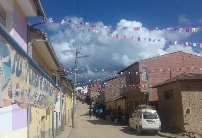 Street party in the yungas