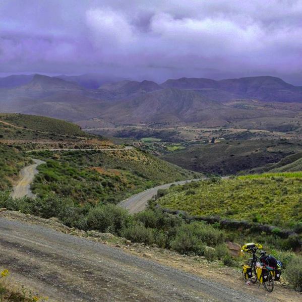 Looking down from the pass before Tarija