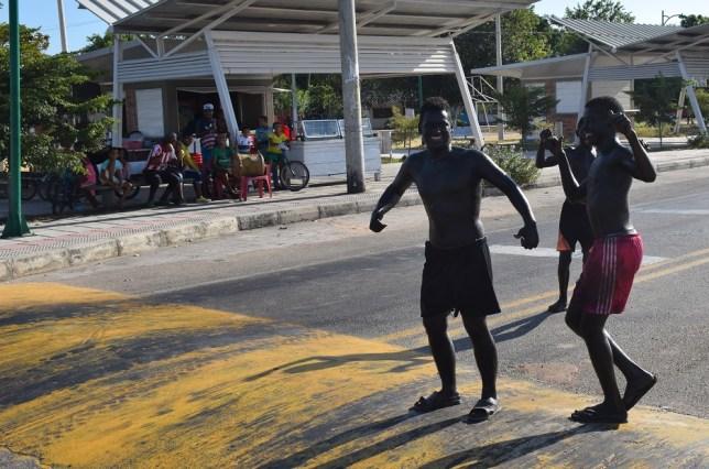 Colombian boys in blackface