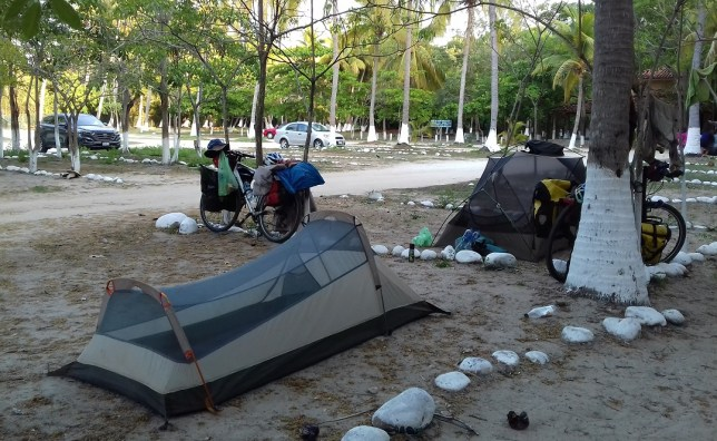 Hidden campsite in Tangolunda resort town