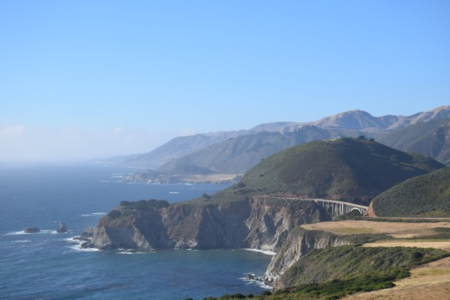 Bixby Canyon Bridge over the cabin where Kerouac lost his mind