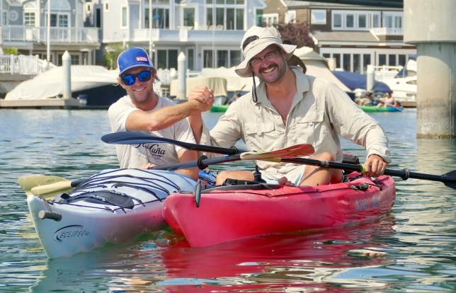Kayaking with renowned Warmshowers host, Ken Francis.