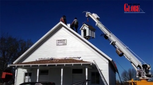 Restoration of Phelps schoolhouse nearly finished