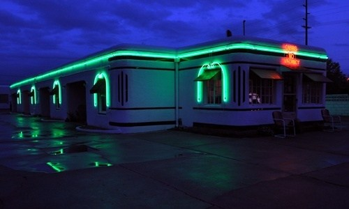 Architectural neon for Boots Court relighted