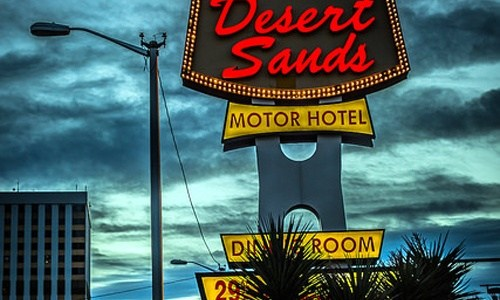 Desert Sands Motel catches fire again