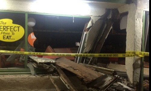 Truck damages Cindy's Eagle Rock restaurant