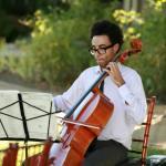 Musician at Regan and Tracies Wedding Malibu California