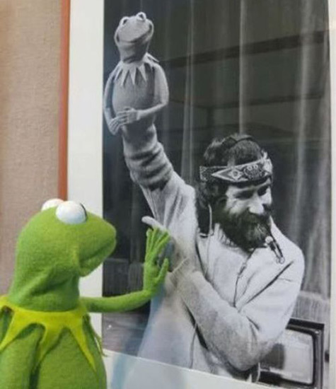 Kermit mourning the loss of Jim Henson