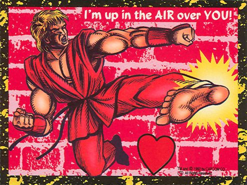 Ken Masters - Street Fighter 2 Valentine's Day Cards
