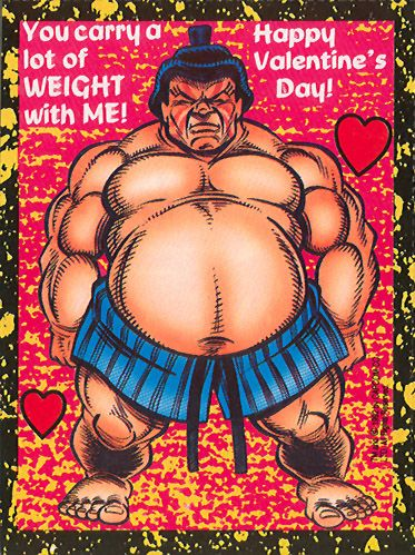 Edmond Honda - Street Fighter 2 Valentine's Day Cards
