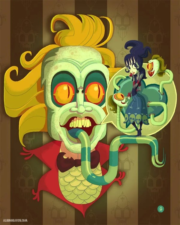 beetlejuice fan art by Glen Brogan