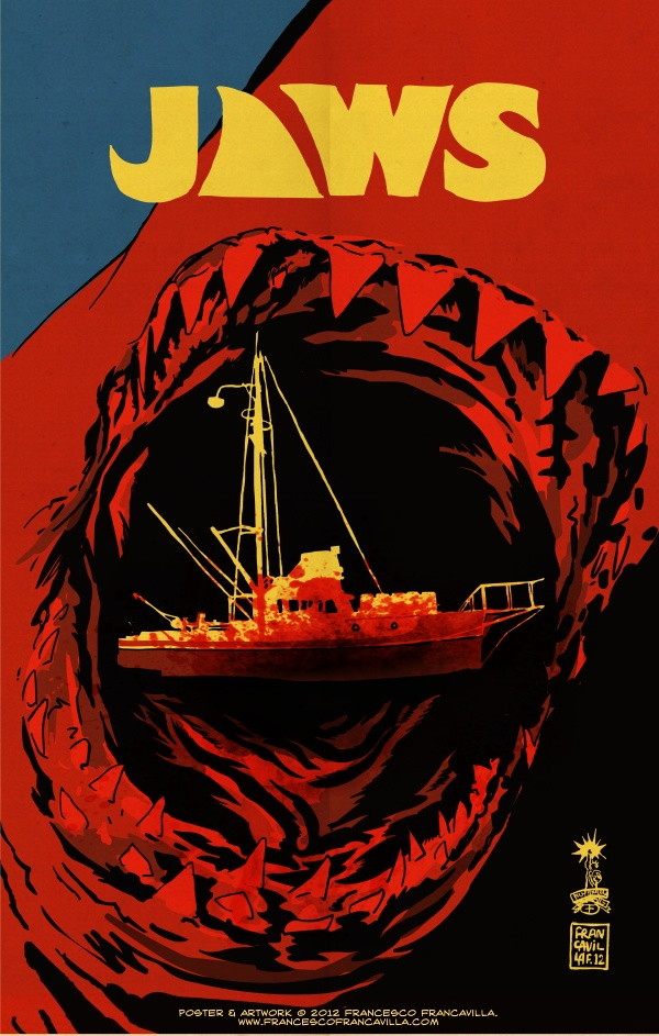 Jaws Poster by Francesco Francavilla