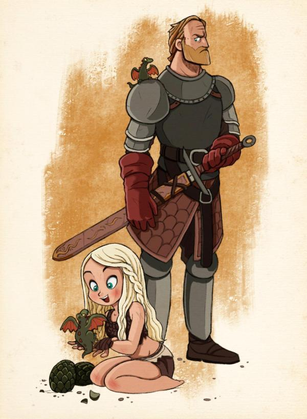 Game of Thrones: Daenerys and Jorah by Alon Boroda