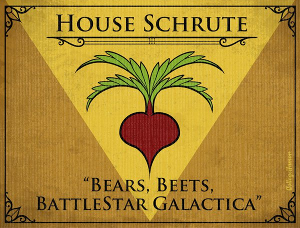 Game of Thrones House Sigils - Dwight Schrute - The Office