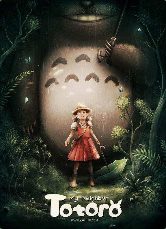 My Neighbor Totoro by Ana Mendes - Miyazaki Art