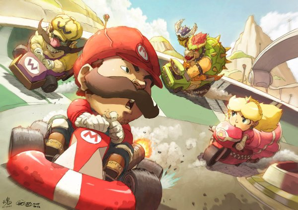 Mario Kart: Wheels of Fury - Gaming Fan Art