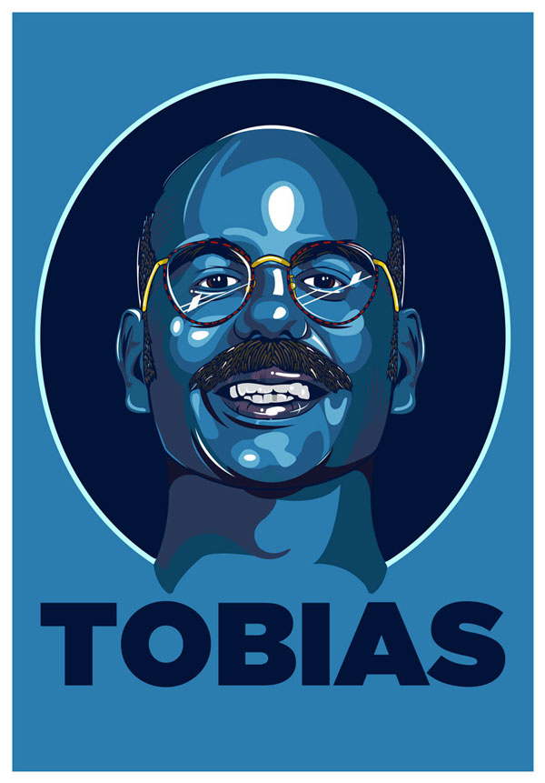 Blue Man Tobias by Samuel Ho - Arrested Development Fan Art