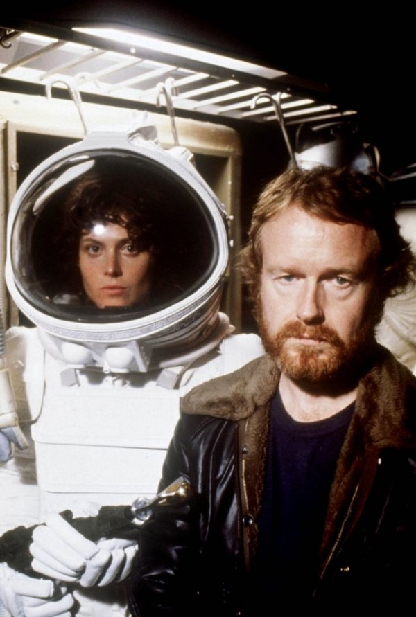 Alien - Sigourney Weaver and Ridley Scott