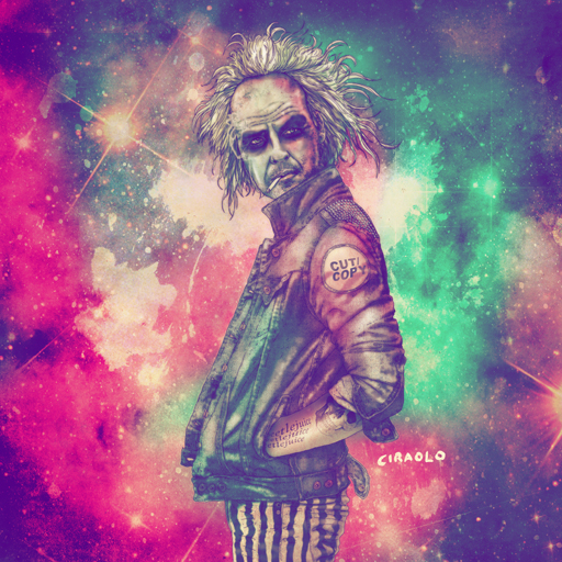 Hipster Beetlejuice by fab ciraolo