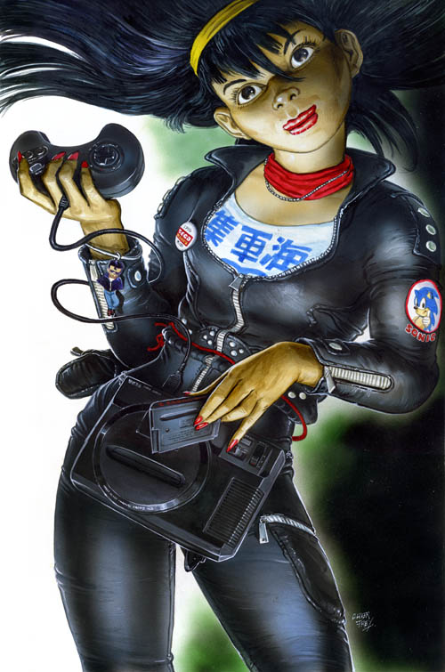 Early 90s Sega Genesis Art by Oli Frey - Sega Force Magazine
