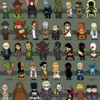 Chibi Batman Villains