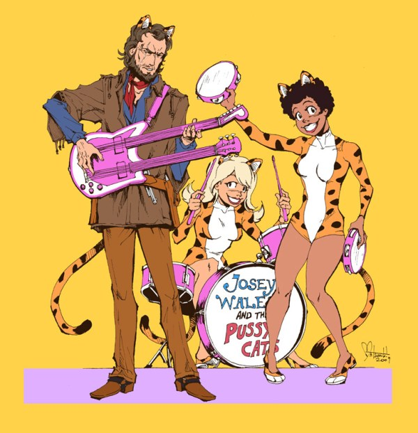 Josie and the Pussycats x Outlaw Josey Wales - Clint Eastwood Western Fanart