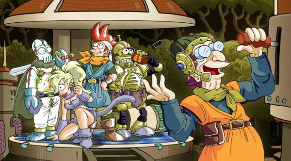 Chrono Trigger X Futurama by Space Coyote - Cartoon Gaming Fanart