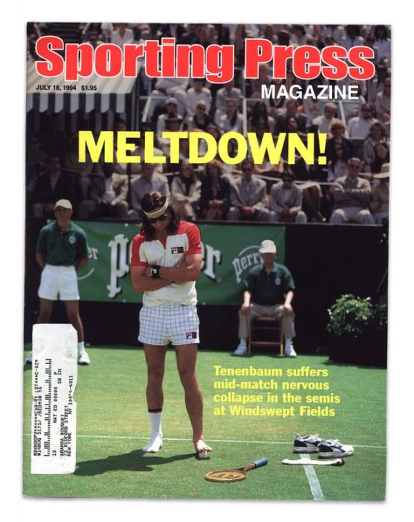 Sporting Press Magazine: Meltdown! Tenenbaum suffers mid-match nervous collapse in the semis at Windswept Fields - Richie - Luke Wilson