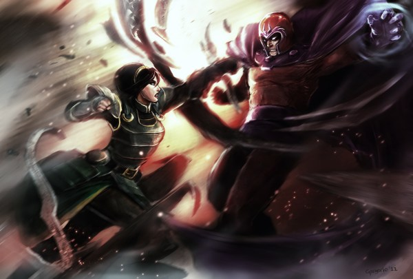 Metal Benders: Toph Beifong vs Magneto - Avatar The Last Airbender, X-Men