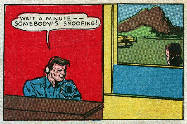 Somebody's Snooping - Nickie Norton of the Secret Service - Thrilling Comics