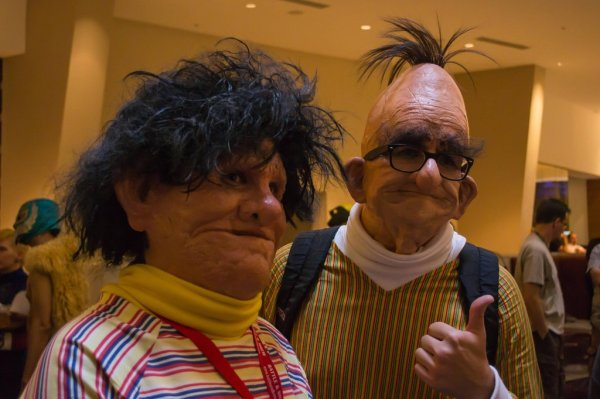 Creepy Realistic Bert and Ernie Cosplay - Sesame Street, Muppets, Dragon*Con