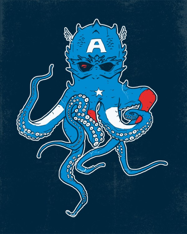 Captain Amerithulhu: Captain America x Cthulhu by Hillary White - H. P. Lovecraft, Avengers