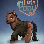 Omar Little Pony by Aviv Or [The Wire x My Little Pony]