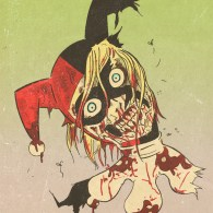 Zombie Harley Quinn by Chris Faccone - Batman, Fan Art, DC Comics