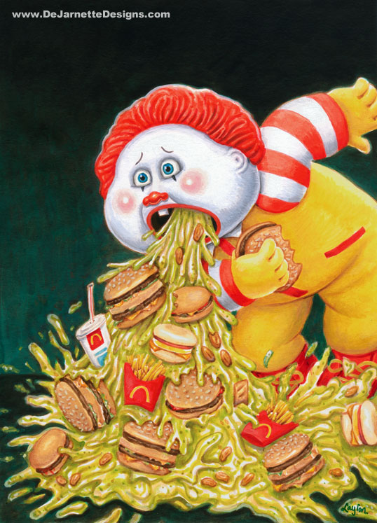 Retched Ronald - Garbage Pail Kids x Ronald McDonald Mashup Art