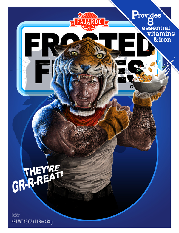 Tony the Tiger by Guillermo Fajardo - Frosted Flakes, Creepy Realistic Cereal Art