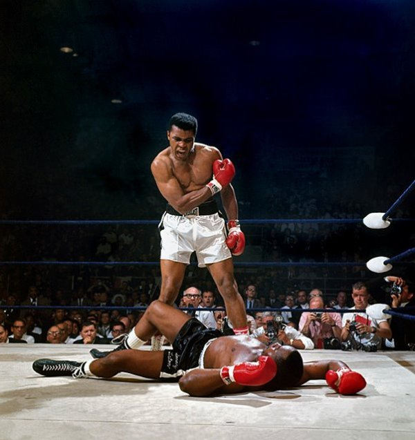 Muhammad Ali vs. Sonny Liston, 1965 Photo by Neil Leifer - Sports Photography, Boxing