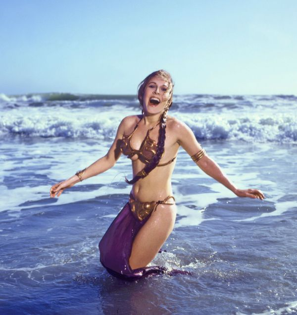 Slave Leia in ocean - Star Wars Rolling Stone Cover July 1983
